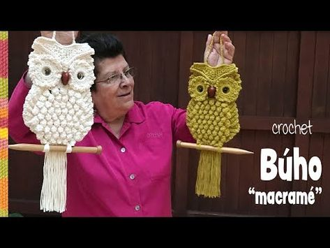 GONANISSIMA           : Búhos imitación MACRAMÉ tejidos a crochet �� / T...