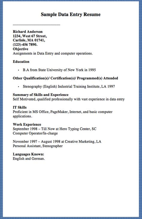 Job Application Cover Letter - http\/\/resumesdesign\/job - typist resume