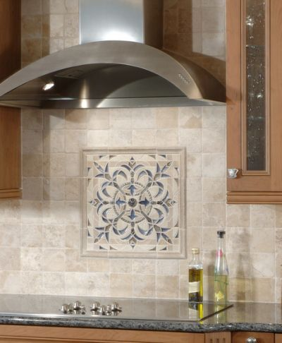 Sonoma Tilemakers Backsplash Medallion Luxury Bathroom Tiles