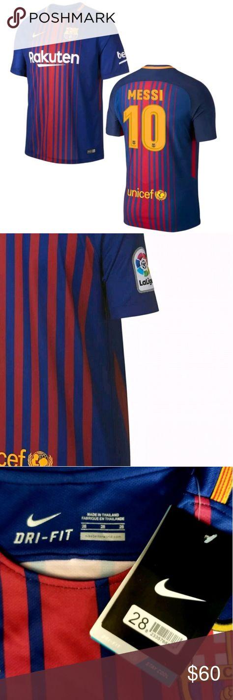 005caf4c Nike FC Barcelona MESSI #10 Home Soccer Jersey NWT Nike FC Barcelona MESSI  # 10