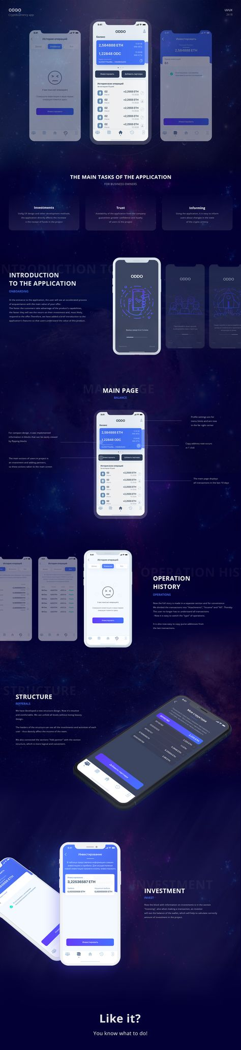 Cryptocurrency - IOS/Android UI/UX