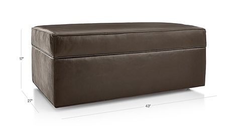 Fine Shop Davis Leather Storage Ottoman With Tray The Tray Bralicious Painted Fabric Chair Ideas Braliciousco