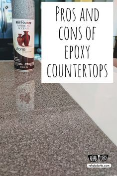 Spray Painted Epoxy Resin Countertops Testing Four Styles Epoxy Countertop Stone Spray Paint Resin Countertops