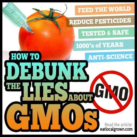 Debunking The Gmo Talking Points With Ease Genetically Modified