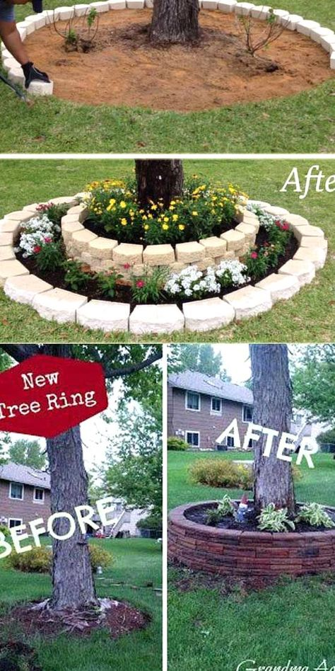 #landscaping #ideas#create#round#garden#recycled#things#homedesigninspired#landscape#accent#around#trunks#stacked#stones#diylandscape Top 19 Cool Ideas to Create a Round Garden Bed with Recycled Things - HomeDesignInspired Garden bed is not only a place for growing vegetables fruits and other plants in your homes outdoor it will also create beautiful landscape If you need ideas to liven up your garden then creating a cool garden bed would be great We thought of bringing you some ideas of