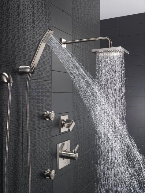 Luxury Showers With Rain Showerheads Handheld Shower Sprays And