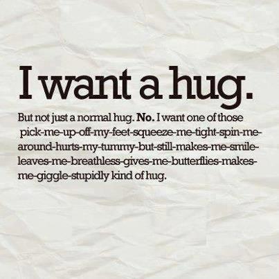 Poem. Sometimes you/I just need a Huge Hug