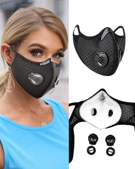 Animal Flag Print Mouth Mask Breathable Washable And Reusable With Replaceable Filter Mask Face Mask Breathable