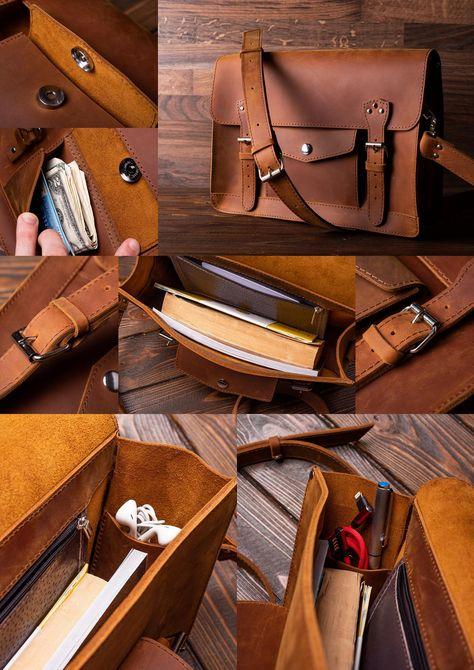Satchel Purse, Crossbody Bag, Cuir Vintage, Vintage Leather Bags, Vintage Leather Messenger Bag, Brown Leather Satchel, Dark Brown Color, Thick Leather, Leather Working