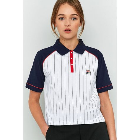 Shop FILA Carletta Pinstripe Polo Shirt at Urban Outfitters today. We carry all the latest styles, colours and brands for you to choose from right here.