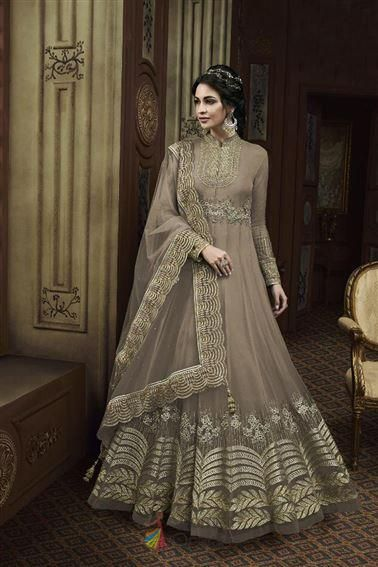 Appealing Thread Sequence Work Sangeet Wear Anarkali Gown Bridal Anarkali Suits Anarkali Dress Indian Dresses