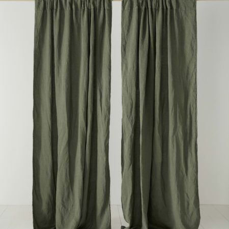 olive green curtains drapes curtains