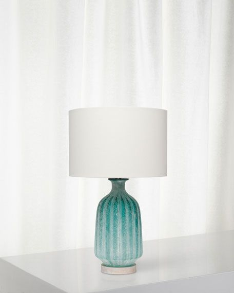 Frosted Glass Table Lamp Aqua In 2021 Glass Table Lamp Table Lamp Glass Table