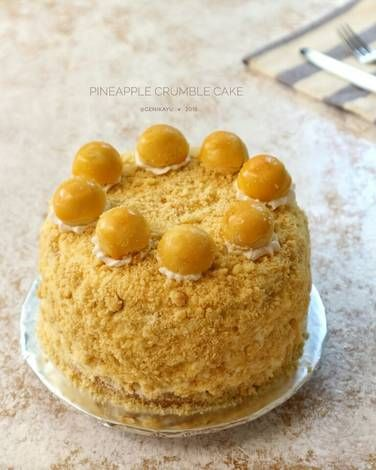 Resep Pineaplle Crumble Cake Nastar Cake Oleh Genika Yulia Resep Memanggang Kue Makanan Nastar