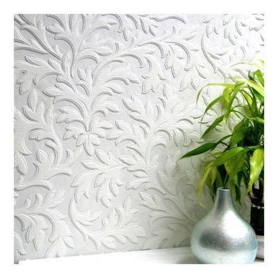 Brewster Bath Bath Bath High Leaf Textured Vinyl Wallpaper White Paintable Textured Wallpaper Anaglypta Wallpaper Paintable Wallpaper