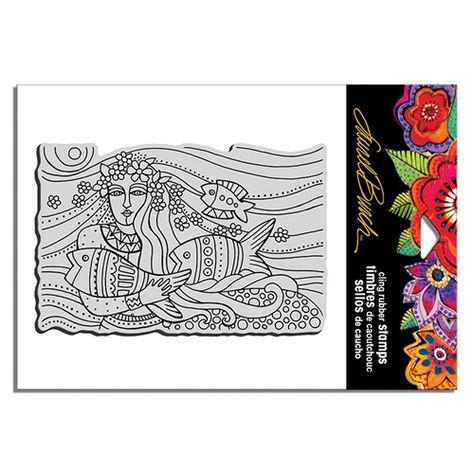 Soul Tears LBCW003 Stampendous Laurel Burch Cling Stamp