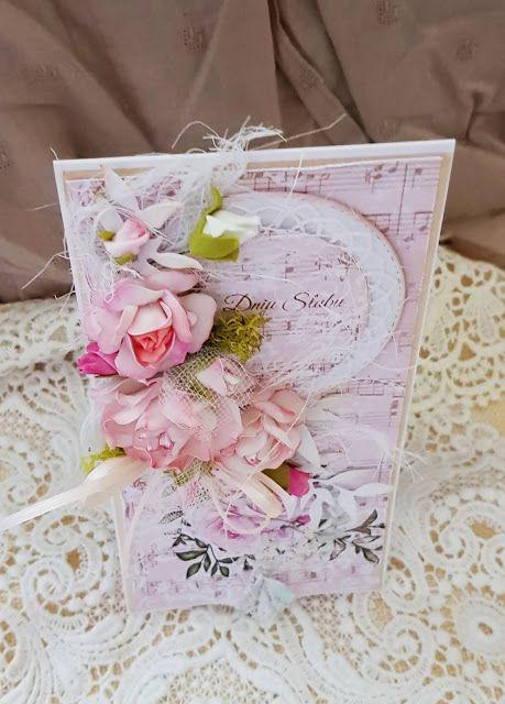 Malgorzata Knapik Kartka Slubna W Pastelowym Rozu Gift Wrapping Handmade Gifts