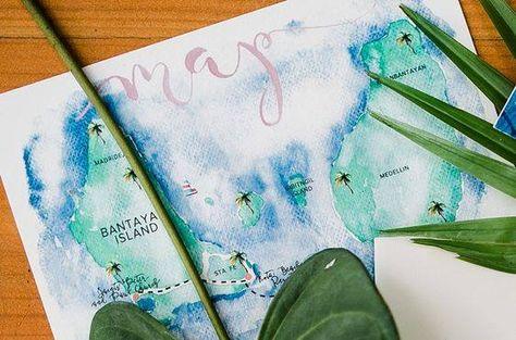 Painted the northern tip island of Cebu, Bantayan! Map for the couple's invite. <3  Photo: Helium Hearts by Marlon Capuyan   #watercolorinvite #weddinginviteph #wedding #weddingsph #watercolorph #calligraphy #calligraphyph #cebucalligraphy #calligrapher #flourishforum #handwritten #handdrawn #artinvite #art #rsvp #brushcalligraphy #love #passion #firstofaprildesigns #firstofaprilinvites #FOAinvites #firstofapril