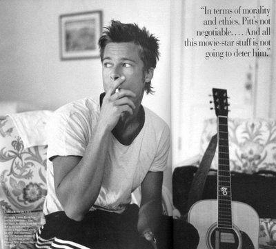 Brad Pitt.... Love you and the work you do for us homos! Xoxoxo