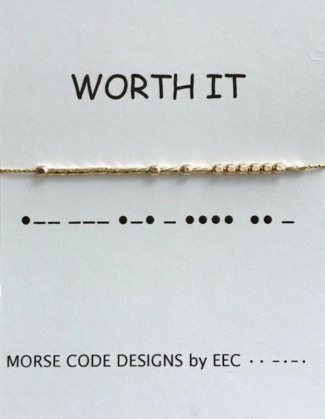 WORTH IT Morse Code Necklace in Sterling Silver 14k Gold Filled Like a Boss Boss Lady Engagement