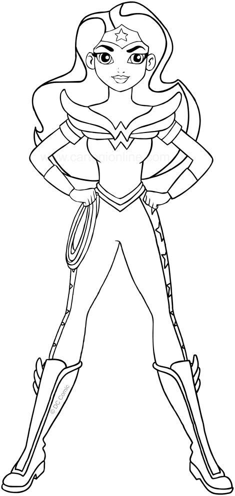 Wonder Woman Dc Superhero Girls Coloring Page To Print Superhero Coloring Pages Superhero Coloring Coloring Pages For Girls