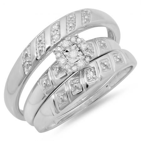 Pin On Spectacular Trio Wedding Ring Sets