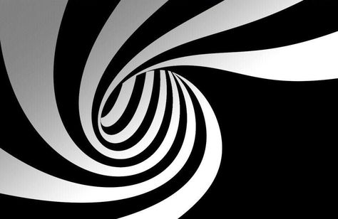 Framed Print - Black And White Spiral Hole (Poster Picture Optical Illusion Art) #ebay #Home & Garden