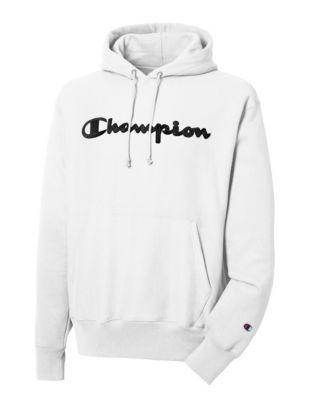 champion Small Script Logo Hooded Sweatshirt Black Beauty