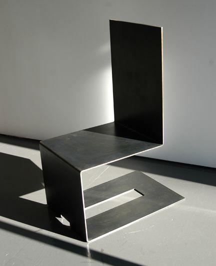 Bent Steel Chair Suyama Peterson Deguchi Aluminum Furniture