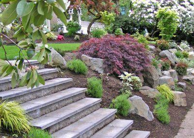Boulders In Landscapes Portfolio Precision Landscape Services Landscaping With Boulders Landscaping With Rocks Outdoor Landscape Design