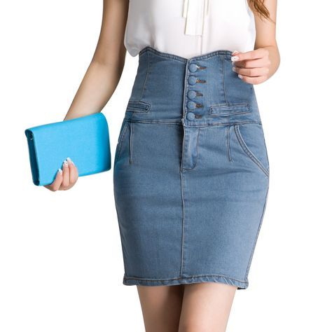 397c218d3 faldas jeans con diseño - Mask'ana Google | Formal vestimenta en ...