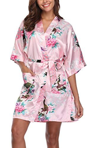Women Kimono Robe Pajamas Cotton Blend Floral Nightwear Sleepwear Japanese Style