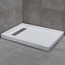 single threshold shower base
