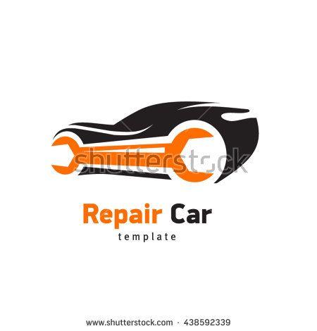 Repair Car Logo Silhouette Ca And Wrench Sign Emblem Service Automotive Logo Design Car Logo Design Car Logos