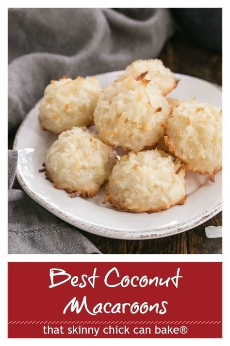Classic Coconut Macaroons Recipe The Best Recipe For An Old Fashioned Coconut Cookie Without Sweetened Condensed Milk Coconut Macaroon Recipes Coconut Macaroons Macaroons