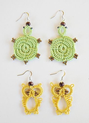 Needle Tatting Earring Tutorial From My Creations
