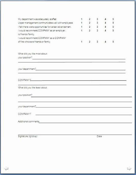 25 Sample Exit Interview Format In 2020 Interview Format