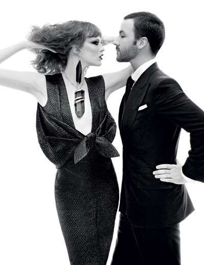 "Tom Ford and Karen Elson in ""Mr.Ford Returns"" / Photographed by Steven Meisel / For Vogue December 2010"