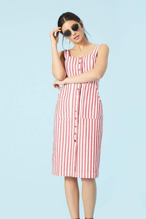 e8374f323f6 Red and white summer striped dress Forever 21 Striped Button- afflink