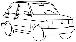 Fiat 126p Maluch Kolorowanki Dla Dzieci Za Darmo Kolorowanki