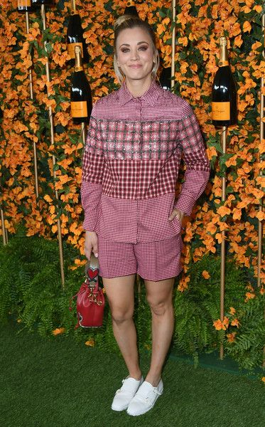 Kaley Cuoco attends the 9th Annual Veuve Clicquot Polo Classic Los Angeles at Will Rogers State Historic Park.