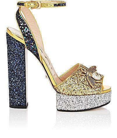 Gucci Soko Glitter Platform Sandals