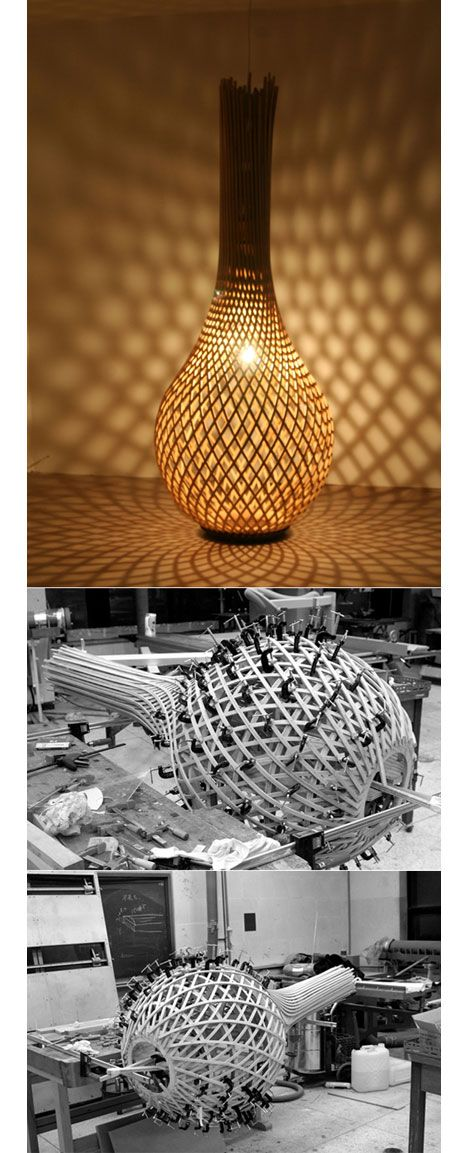 Bae Se-hwa process design of wooden lamp