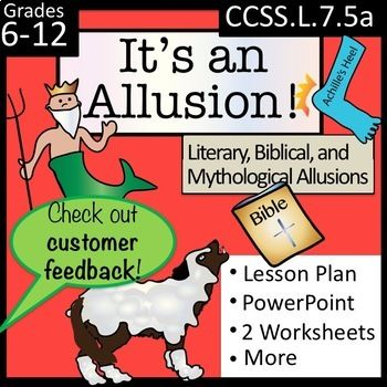 It S An Allusion Literary Biblical And Mythological Allusions