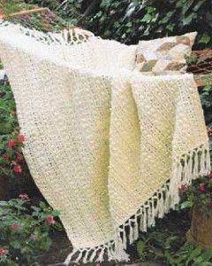 This popcorn stitch Crochet Lace Pattern will give your home an antique flair! | AllFreeCrochetAfghanPatterns.com