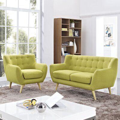 Langley Street Meggie 2 Piece Living Room Set Upholstery Color Light Gray Living Room Sets Modern Style Living Room Living Room Designs