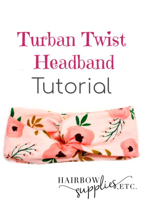 Twisted Turban Headband Twisted Turban Headband,DIY Hair Accessories Learn how to make a twist turban headband with our sewing tutorial! The twisted turban head wrap is such a fun project and a quick DIY. Diy Sewing Projects, Sewing Projects For Beginners, Sewing Hacks, Sewing Tips, Sewing Crafts, Learn Sewing, Diy Gifts Sewing, Baby Sewing Tutorials, Baby Diy Projects