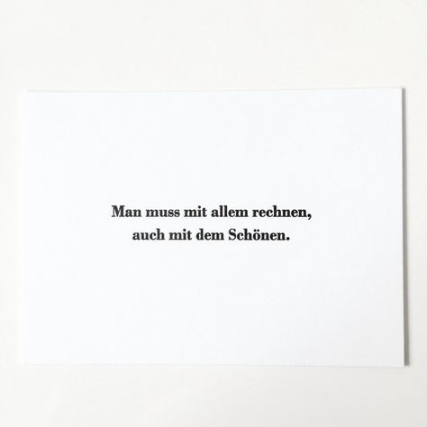 """Liebe & Freundschaft - Karte """"rechne mit dem Schönen"""" (16 x 11,5 cm) - ein Designerstück von milia-druckt bei DaWanda"""