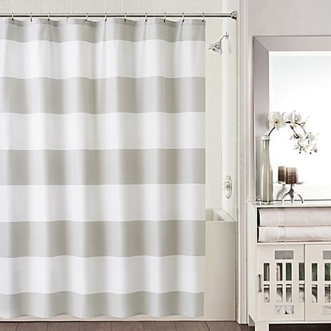 20 Chase Shower Curtain In Grey White BBB
