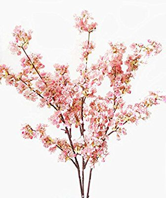 Amazon Com 39 Inch Artificial Cherry Blossom Branches Flowers Silk Peach Flowers Arrangements For Cherry Blossom Flowers Fake Flower Arrangements Fake Flowers